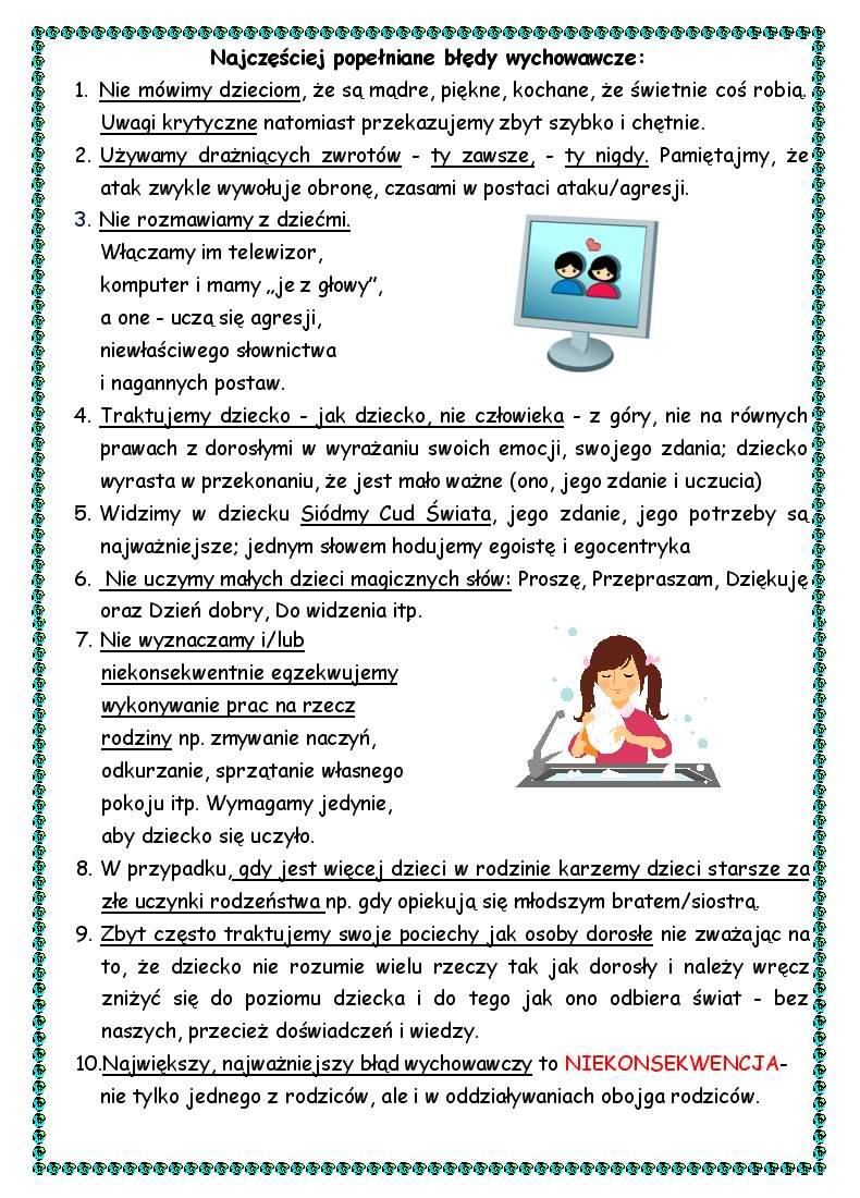 Gazetka pedagoga szkolnego i doradcy zawodowego w Zespole Szkół Nr 3 im. 750-lecia Jarocina